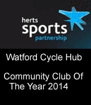Hert Sports Partnership, Watford Cycle Hub community club of the year 2014