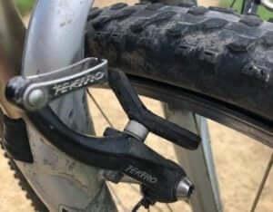 Broken bicycle brake