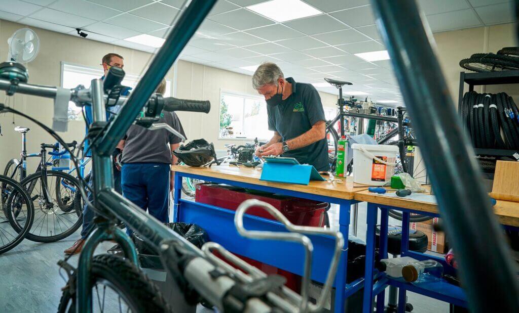 The workshop at Watford Cycle Hub